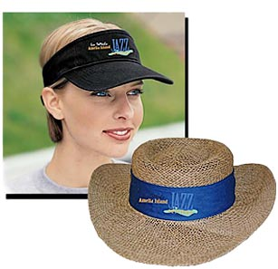 Jazz Fest Visor and Hat